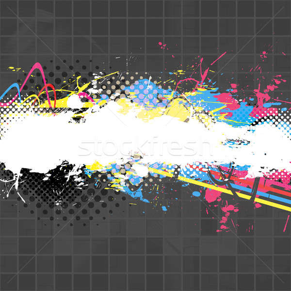 Vernice splatter layout abstract texture copia spazio Foto d'archivio © ArenaCreative