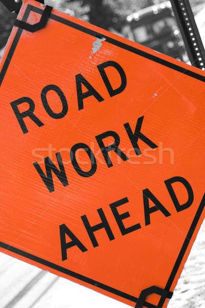 Road Work Ahead Stock photo © ArenaCreative
