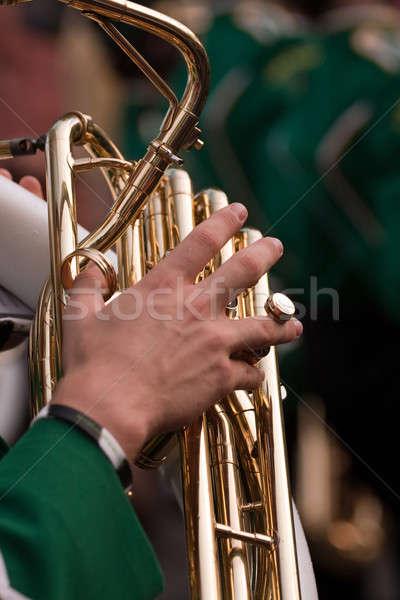 Bant tuba oyuncu erkek el Stok fotoğraf © ArenaCreative