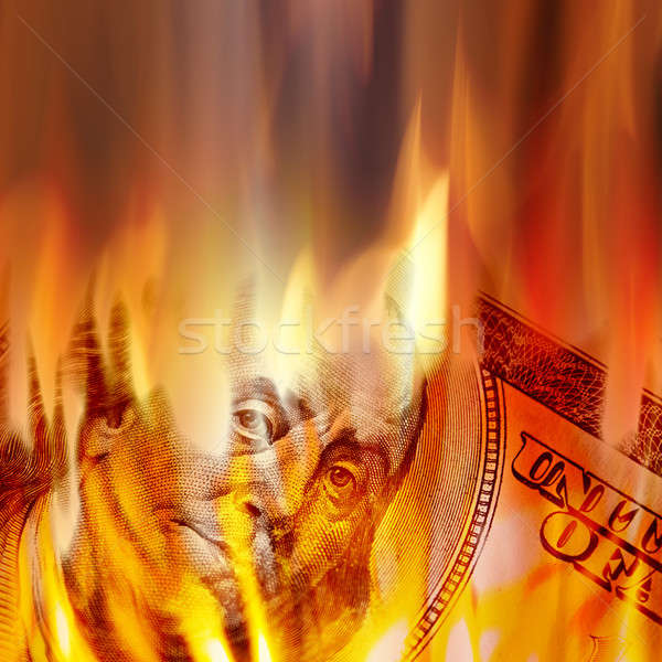 Money Burning in Flames Stock photo © ArenaCreative