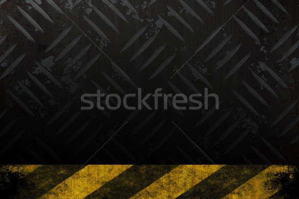 Danger diamant plaque texture jaune Photo stock © ArenaCreative