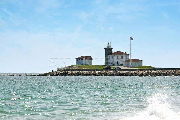 Regarder colline Rhode Island phare historique Photo stock © ArenaCreative