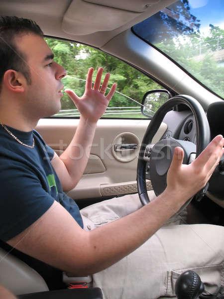 дороги ярость человека молодым человеком стороны Scream Сток-фото © ArenaCreative