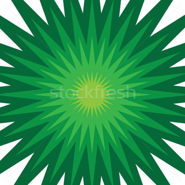 Green Starburst Stock photo © ArenaCreative