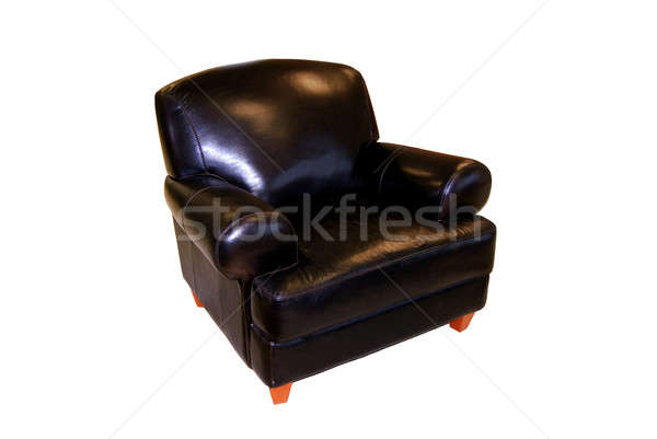 black leather chair Stock photo © ArenaCreative