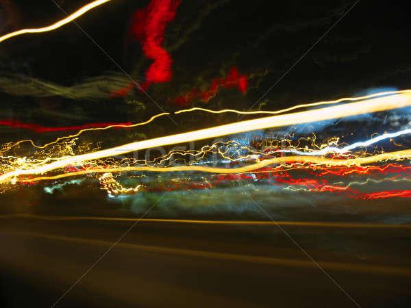 Résumé lumières lumière voitures signes autre Photo stock © ArenaCreative