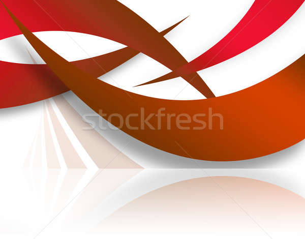 Red Abstract Swoosh Layout Stock photo © ArenaCreative