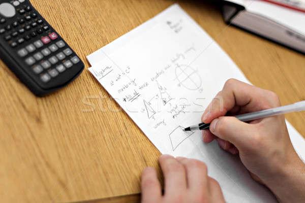 Doing Math Homework Stock photo © ArenaCreative