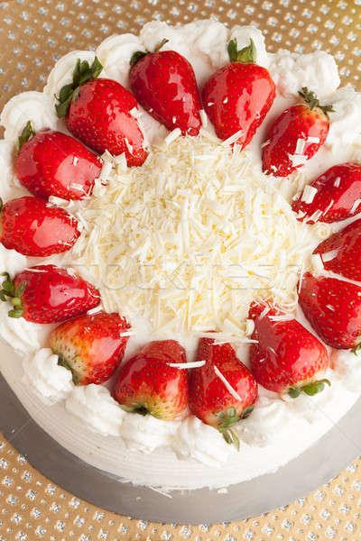 Cake with Strawberries Stock photo © arenacreative