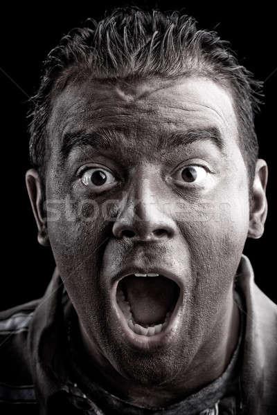 Scared Man Screaming Stock photo © ArenaCreative
