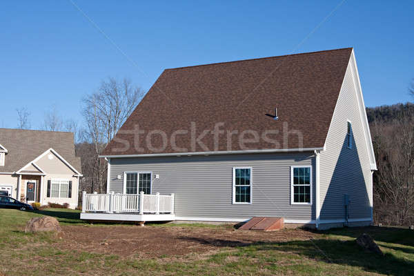 Newly Built House Rear Stock photo © ArenaCreative