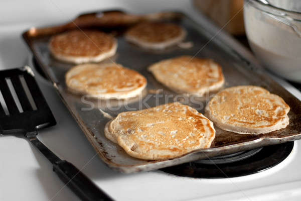 Apple Pancakes Cooking Stock photo © ArenaCreative