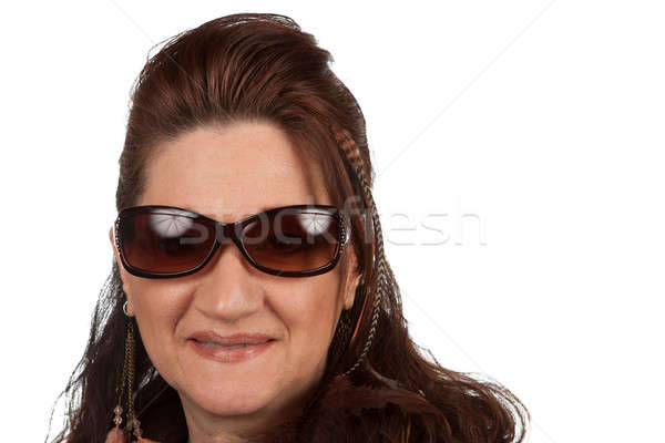 Middle Aged Woman with Sunglasses Stock photo © ArenaCreative