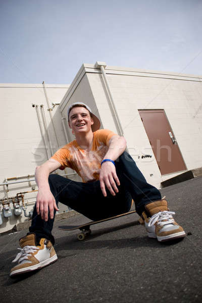 Stock photo: Skateboarder