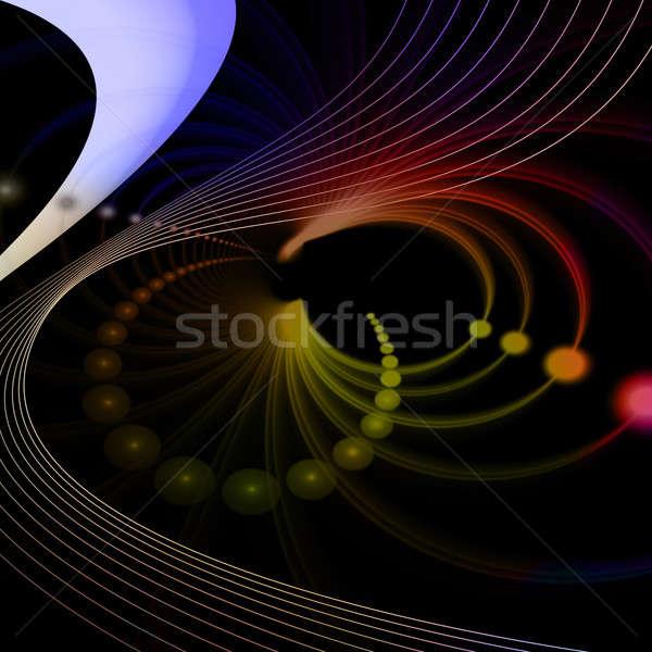 аннотация фрактальный вихревой копия пространства стиль дизайна Сток-фото © ArenaCreative