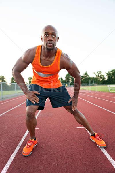 Runner Stretching His Legs Stock photo © arenacreative
