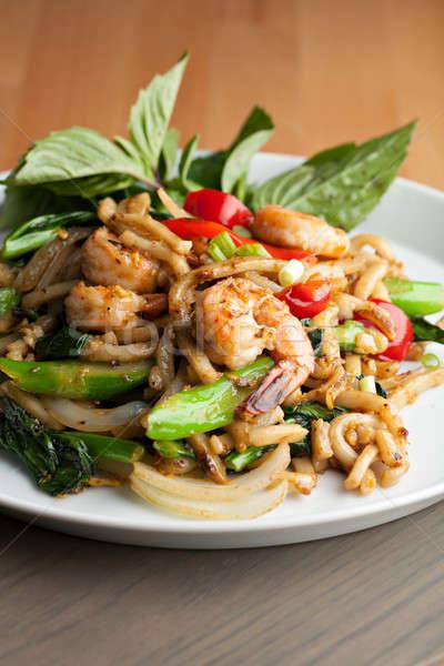Thai Shrimp Stir Fry Stock photo © arenacreative