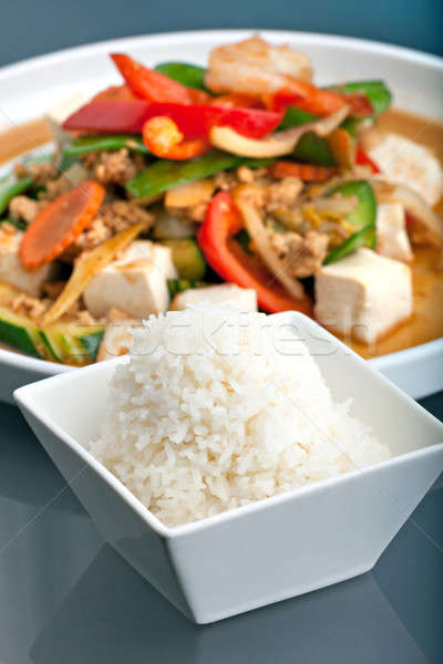 Thai Stir Fry and Jasmine Rice Stock photo © arenacreative