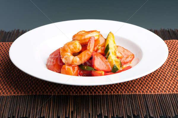 Zoete zuur garnalen thai schotel stijl Stockfoto © arenacreative