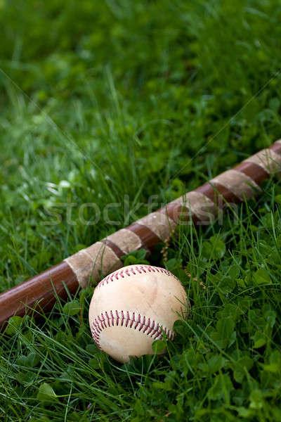 Stock photo: Baseball Bat and Ball