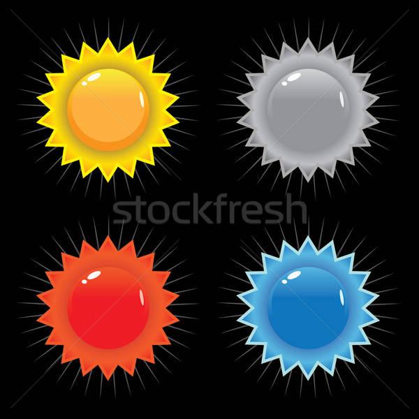 Сток-фото: жетоны · вектора · набор · иконки · первичный · цветами