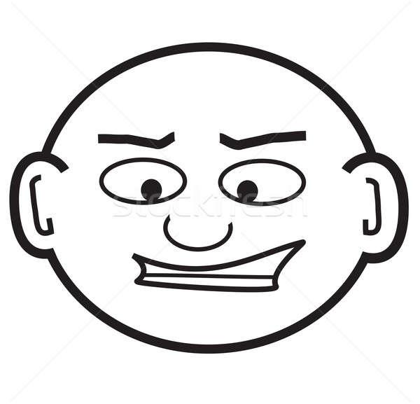Kopasz csávó néz rajz fej baba Stock fotó © ArenaCreative