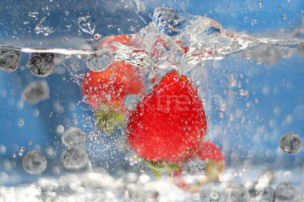 Red Strawberries Splash Stock photo © ArenaCreative