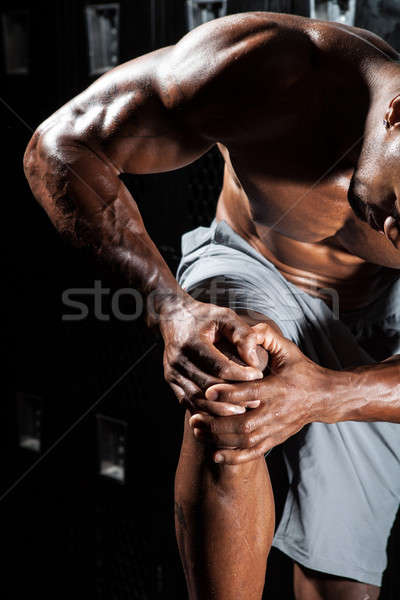 Knie Schmerzen Porträt Muskel Fitness Mann Stock foto © arenacreative