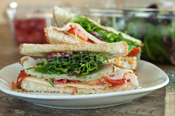 Törökország szendvics egyszerű méz búza kenyér Stock fotó © arenacreative
