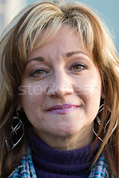Smiling Middle Aged Woman Stock photo © ArenaCreative