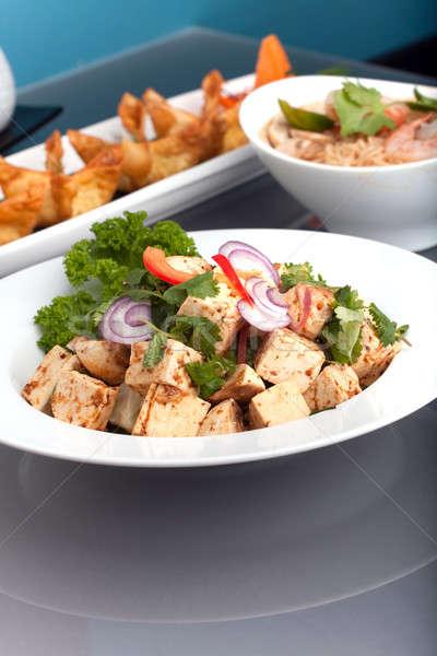 Friss thai étel bemutató szép válogatás előételek Stock fotó © ArenaCreative