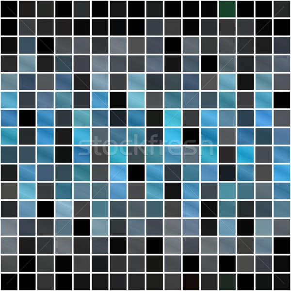 Azul padrão azulejos textura abstrato Foto stock © ArenaCreative