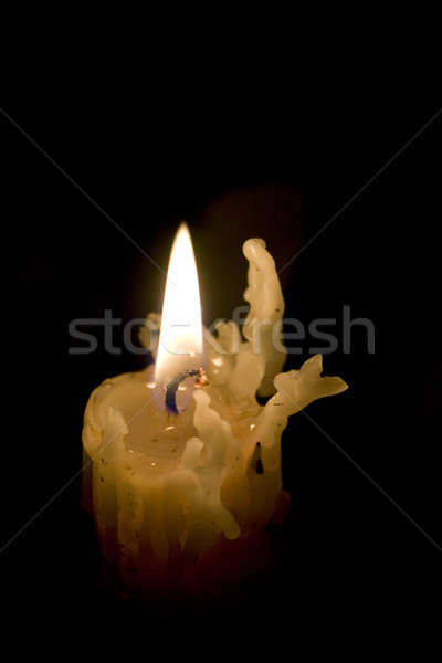 Candela stick raccapricciante vecchio candeliere Foto d'archivio © ArenaCreative