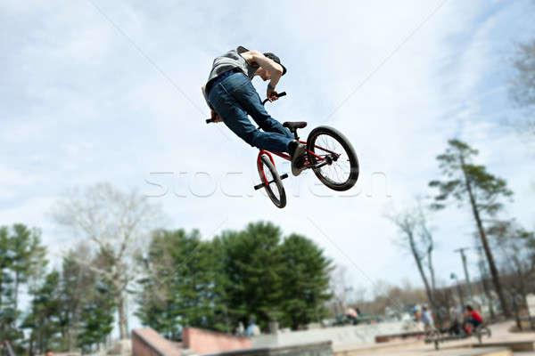 BMX Rider Jumping Stock photo © arenacreative