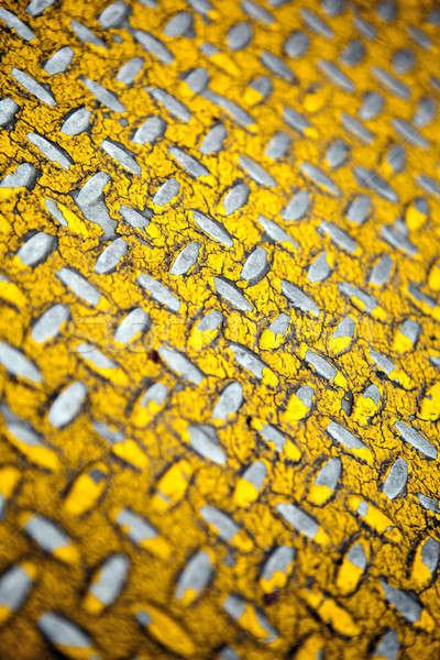 Yellow Diamond Plate Metal Stock photo © ArenaCreative