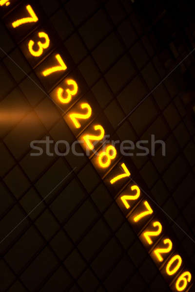 Digital Glowing Numbers Stock photo © ArenaCreative