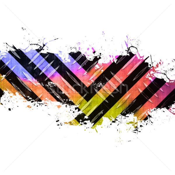 Funky Splattered Hazard Stripes Stock photo © ArenaCreative