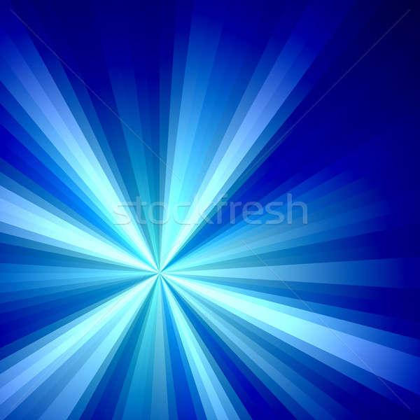 Foto stock: Azul · solar · ilustração · brilhante · fractal