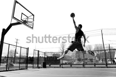 Basketball Dunk Outdoors Stock photo © arenacreative