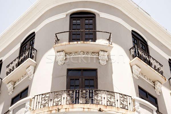 Oude san juan architectuur historische architectuur Puerto Rico stad Stockfoto © ArenaCreative
