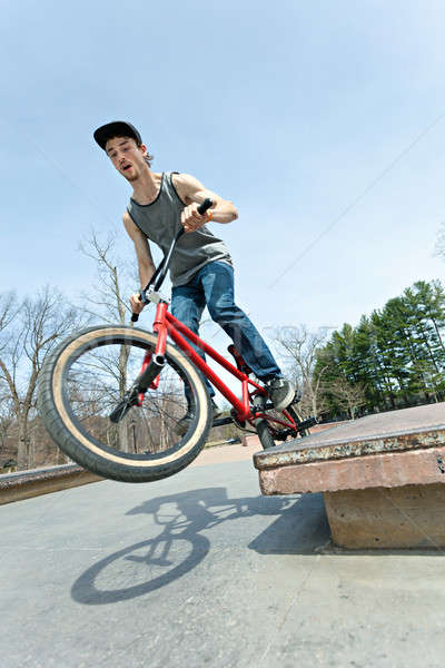 BMX Rider Grinding Stock photo © arenacreative