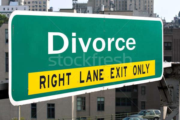 Divorce Highway Sign Stock photo © ArenaCreative