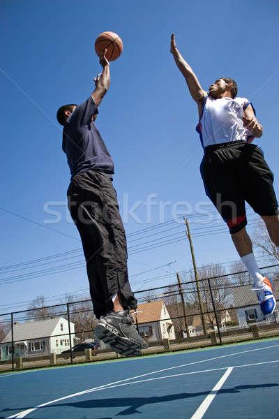 Basketball One On One Stock photo © ArenaCreative