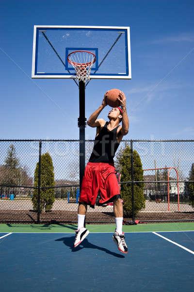 Stock photo: Basketball Reverse Dunk