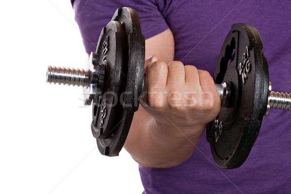 Man Lifting Weights Stock photo © ArenaCreative