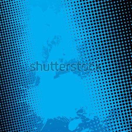 Mavi sıçramak yarım ton boya vektör Stok fotoğraf © ArenaCreative