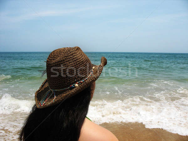 beach girl Stock photo © ArenaCreative