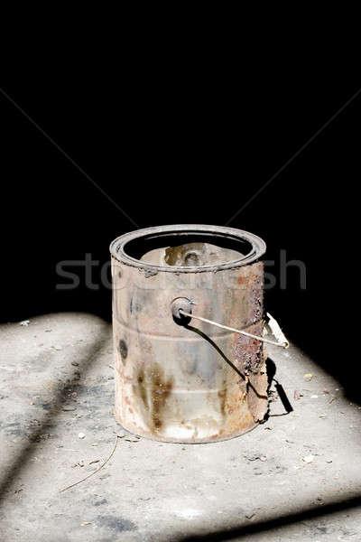 古い ペンキのバケツ 静物 ショット さびた 劇的な ストックフォト © ArenaCreative