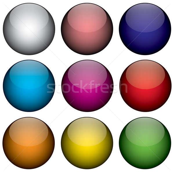 Nine Colorful 3d Orbs Stock photo © ArenaCreative