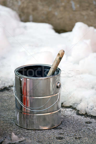 Painting in the Winter Time Stock photo © ArenaCreative